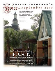 F.A.S.T. - Our Savior Lutheran Church