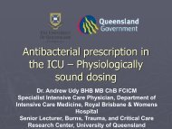 Antimicrobial Dosing in ICU