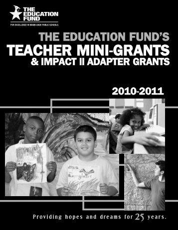 2011-2012 Teacher Mini-Grants Award Booklet - The Education Fund