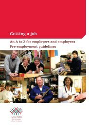 Getting a job - Human Rights Commission