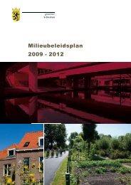 Milieubeleidsplan 2009 - 2012 - Gemeente Schiedam