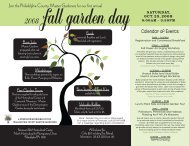 Join the Philadelphia County Master Gardeners for our first annual