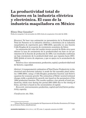 03ELISEO DIAZ - economía mexicana Nueva Época