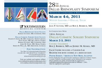 rhinoplasty - Dallas Rhinoplasty Symposium