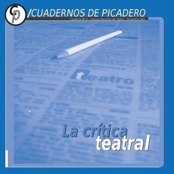 Cuadernos de Picadero Nº 7 - Instituto Nacional del Teatro