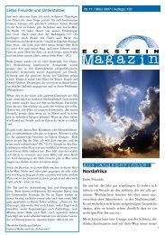 Magazin Nr. 11 - Horizonte Weltweit eV Eckstein