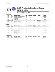 875 DSD Products Purchase Order 005010 UCS - Kroger EDI