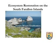 Ecosystem Restoration on the South Farallon Islands - Gulf of the ...