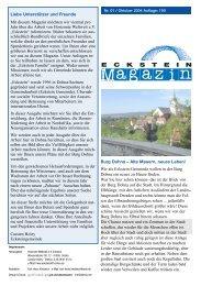 Magazin - Horizonte Weltweit eV Eckstein
