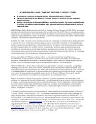 a sherwin-williams company adquire o grupo comex - Investor ...