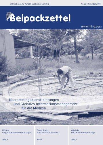 Beipackzettel - Medical Translation GmbH