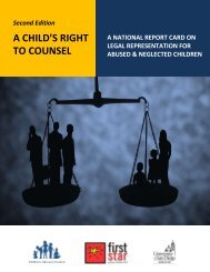A CHILD'S RIGHT TO COUNSEL - Children's Advocacy Institute