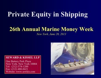 Private Equity in Shipping - Seward and Kissel