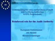 Reinforced role for the Audit Authority Reinforced role for ... - Interact