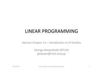 LINEAR PROGRAMMING - Corelab