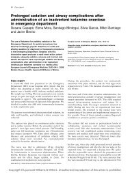 Prolonged sedation and airway complications after administration of ...