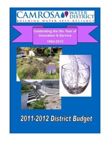 Final Budget 2011-12.pdf - Camrosa Water District