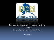 Current Environmental Issues for Coal In Alaska - Alaska Miners ...
