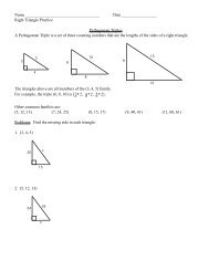 Right Triangle Practice - LS Home Page