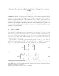 Empirical Distributions of Laplacian Matrices of Large Dilute ...