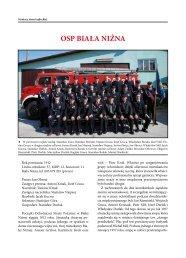 OSP BIAŁA NIŻNA - emergency portal ratowniczy