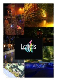 View our Lighting and Audio Introduction - Lairds Of Troon