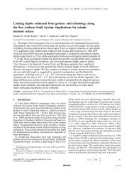 Locking depths estimated from geodesy and seismology along the ...