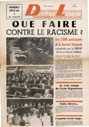 CONTRE LE RACISME 2 - Archives du MRAP