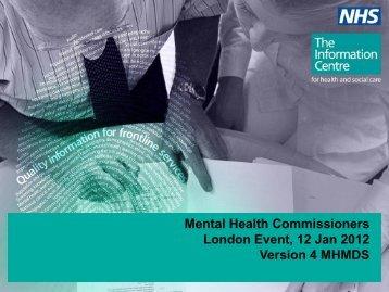 Jo Simpson MHMDS v4 - London Health Programmes