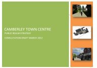 CAMBERLEY TOWN CENTRE - Surrey Heath Borough Council