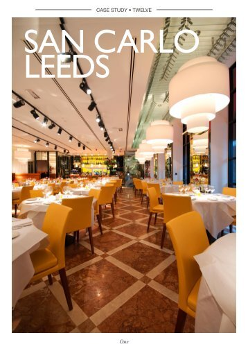 San Carlo Restaurant Leeds - GOSS Marble