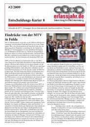 kurier 2-2009 - Erlassjahr.de
