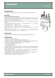 Produktbladför Shuntgrupper - Armatec