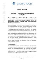 Press Release - Galileo Group AG