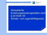 Düsseldorfer Erziehungsberatungsstellen nach § 28 SGB VIII ...