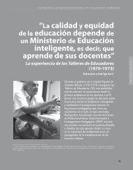"""""""La calidad y equidad de la educación depende ... - Revista Docencia"""