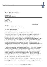 Muster: Motivationsschreiben Geisteswissenschaft - Albert-Ludwigs ...