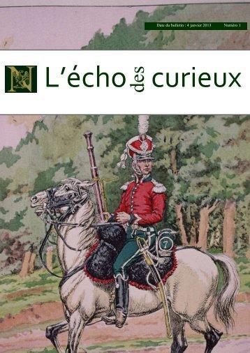Date du bulletin : 4 janvier 2013 Numéro 1 - Le Souvenir Napoléonien