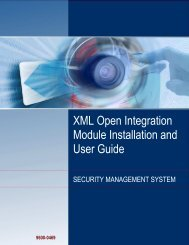 XML Open Integration Module Installation and ... - G4S Technology