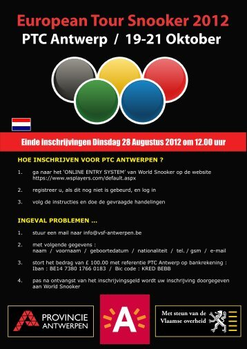 ker 2012 European Tour Snooker 2012 - VSF