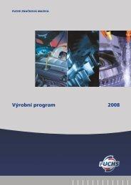 Výrobní program 2008 - Fuchs-oil.cz