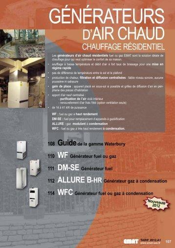 Générateur d'air chaud résidentiel WATERBURY SÉRIE WF - EMAT