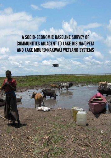 A Socio-Economic Baseline Survey of Communities - Nature Uganda