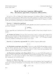 Étude de fonctions, équations différentielles TP2 – Résolutions ...