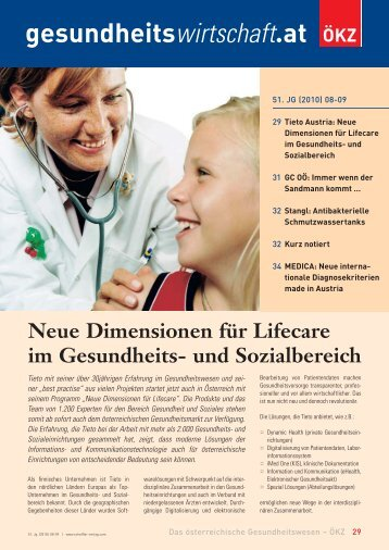 gesundheitswirtschaft.at Neue Dimensionen für Lifecare im ...