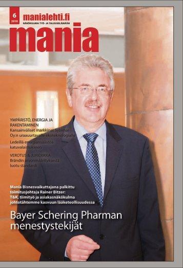 Bayer Schering Pharman menestystekijät - Manialehti.fi