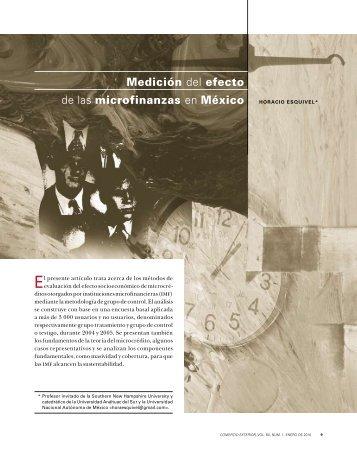 Medición del efecto de las microfinanzas en México - revista de ...