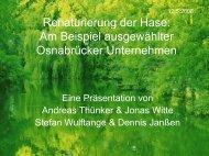 Renaturierung der Hase: Am Beispiel ausgewählter Osnabrücker ...