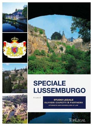 speciale lussemburgo - Studio legale Olivieri Ciapetti & Partners
