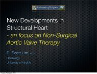 New Developments in Structural Heart - an focus on Non-Surgical ...